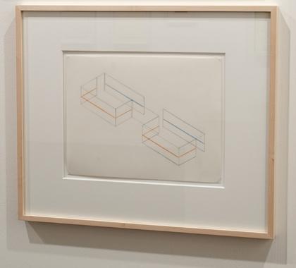 Fred Sandback / Fred Sandback  Untitled (Study for Annemarie Verna Gallery, Zurich)  ca. 1990 21,6 x 27,9 cm Pastel pencil an pencil on vellum FLS 0207