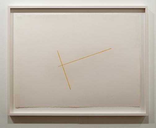 Fred Sandback / Fred Sandback Untitled  ca. 1976 56 x 76 cm Crayon on paper