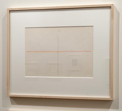Fred Sandback / Fred Sandback Untitled  ca. 1972 22,9 x 30,5 cm Roter und gelber Farbstift auf Strathmore Shelburne FLS 351
