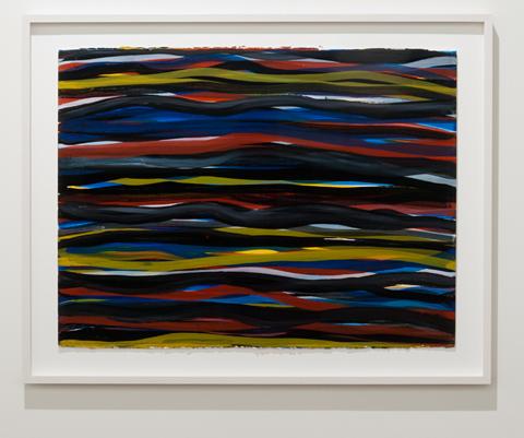 Sol LeWitt / Sol LeWitt Horizontal Brushstrokes  1993 57 x 75,8 cm Gouache auf Papier