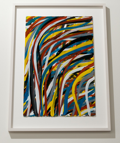 Sol LeWitt / Sol LeWitt Wavy Brushstrokes  2002 57,5 x 38 cm Gouache auf Papier