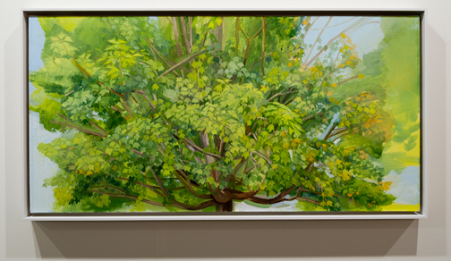 Sylvia Plimack Mangold / Sylvia Plimack Mangold Summer Maple 2009  2009 62,2 x 122 cm Oil on canvas