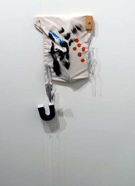 Richard Tuttle / Richard Tuttle «Sewn Painting» Nr. 4  1998 60 x 34 x 10 cm Holz, bemalter Stoff, Styropor, Draht