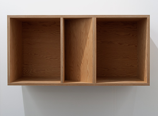 Donald Judd / Donald Judd Untitled  1989  50 x 100 x 50 cm Douglas fir plywood