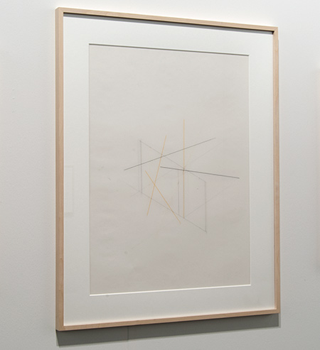 Fred Sandback / Fred Sandback Untitled  2003  60.3 x 47.6 cm Pencil and pastel pencil on Mylar