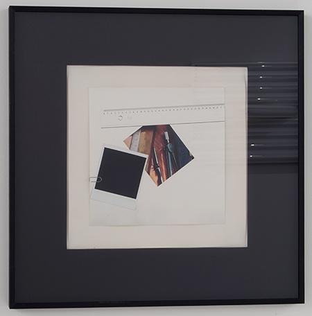 Giulio Paolini / Giulio Paolini Senza titolo  1974  56 x 56 cm Collage on photograph, paper clip, Polaroid
