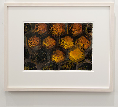 Joseph Egan / Joseph Egan colorcomb (Nr. 35)  2014  40 x 48 x 3 cm Paper: 21 x 30 Oil paints on paper with framing