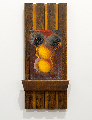 Joseph Egan / Joseph Egan La Casa d'Api  2014  47 x 21 x 5 cm Painted wood and painted panel