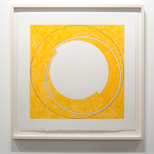 Robert Mangold / Robert Mangold Split Square with Open Center  2012  76.2 x 75.6 cm pastel and pencil on paper