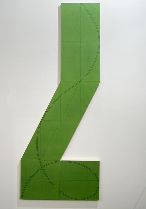 Robert Mangold / Robert Mangold Column Structure XXIIIA  2008  228 x 91.5 cm Acrylic and pencil on canvas