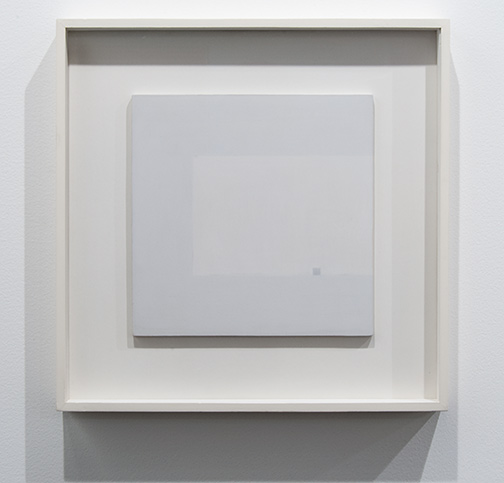 Antonio Calderara / Antonio Calderara Attrazione quadrata grigia in colore luce  1964–1965 27 x 27 cm oil on wood panel
