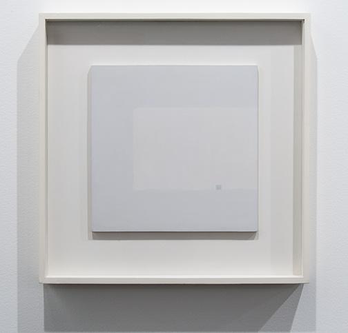 Antonio Calderara / Antonio Calderara Attrazione quadrata grigia in colore luce  1964–1965 27 x 27 cm oil on wood panel