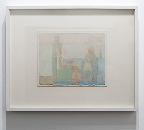 Antonio Calderara / Antonio Calderara Intimità  1957 23 x 29,5 cm oil on cardboard on wood panel
