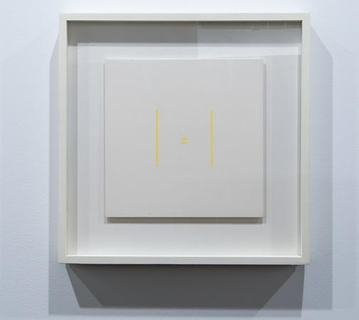 Antonio Calderara / Antonio Calderara Senza titolo  1973 27 x 27 cm oil on wood panel