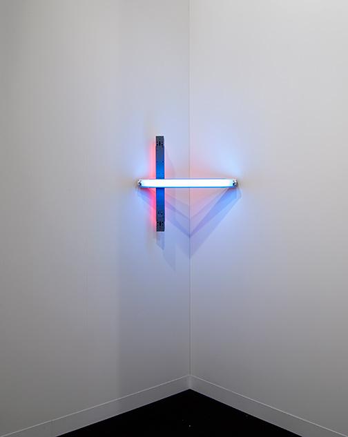 Dan Flavin / Dan Flavin Untitled  1969 61 x 61 cm blue and red fluorescent light (CL #222)