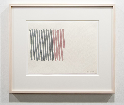 Giorgio Griffa / Giorgio Griffa Untitled  1977 23 x 31 cm watercolor on paper