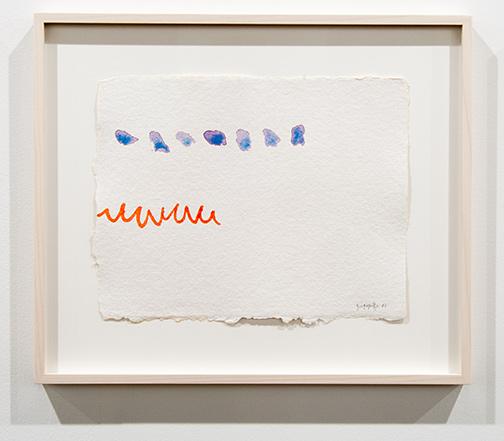 Giorgio Griffa / Giorgio Griffa Untitled  1983 23,5 x 40 cm watercolor on paper