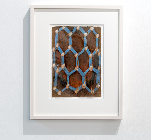 Joseph Egan / Joseph Egan The Gift (Nr. 1)  49 x 39 x 3 cm; painting 30 x 21 cm oil paints on paper with framing