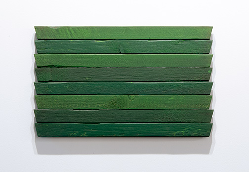 Joseph Egan / Joseph Egan greens  31 x 49,5 x 3 cm oil paints on wood