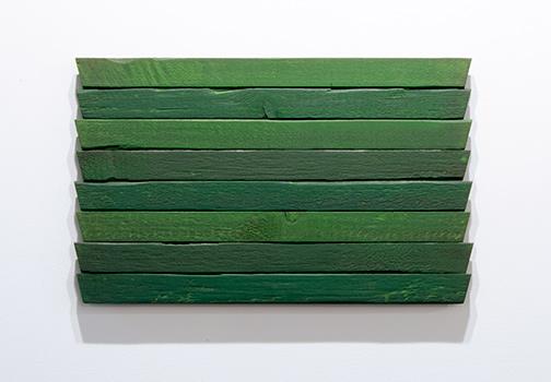 Joseph Egan / Joseph Egan greens  31 x 49,5 x 3 cm oil paints on wood