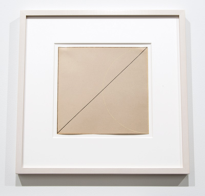 Robert Mangold / Robert Mangold Untitled  1973 22,5 x 22,5 cm pastel and graphite on paper
