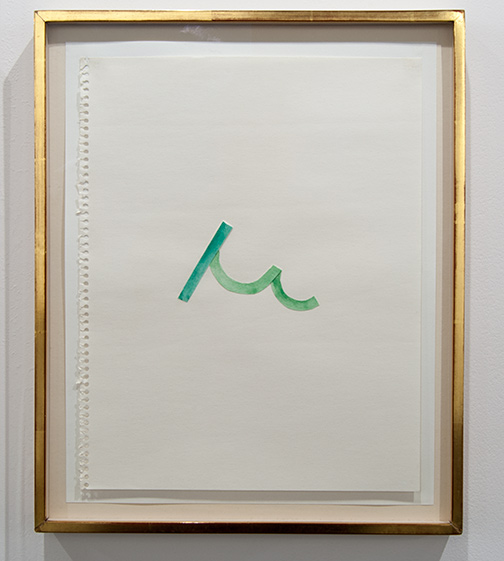 Richard Tuttle / Richard Tuttle Untitled (Collage Drawings) I 2  1977 ten drawings, each: 36 x 28 cm in artists frame watercolor and collage on paper