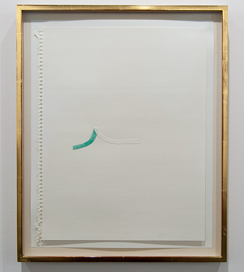 Richard Tuttle / Richard Tuttle Untitled (Collage Drawings) I 5  1977 ten drawings, each: 36 x 28 cm in artists frame watercolor and collage on paper