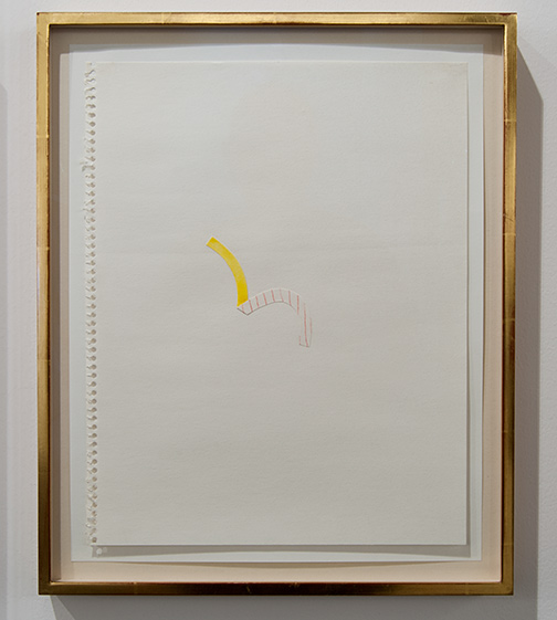 Richard Tuttle / Richard Tuttle Untitled (Collage Drawings) I 9  1977 ten drawings, each: 36 x 28 cm in artists frame watercolor and collage on paper