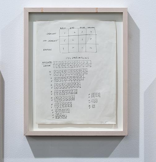 Sol LeWitt / Sol LeWitt 144 Variations  1968 27,9 x 21,6 cm 11 x 8,5 inch ink on paper working drawing