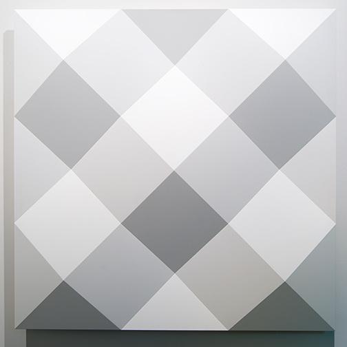 Andreas Christen / Andreas Christen Untitled  2002 150 x 150 cm MDF-Platte, weiss gespritzt