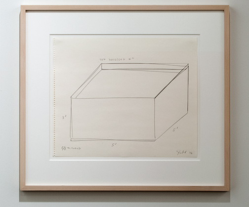 Donald Judd / Donald Judd Untitled  1976 35.7 x 43 cm pencil on paper