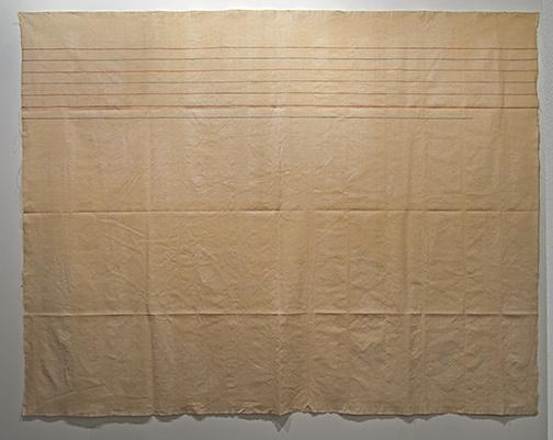 Giorgio Griffa / Giorgio Griffa Linee orizzontali  1975 236 x 303 cm / 92.9 x 119.3 in acrylic on light canvas (canapa)