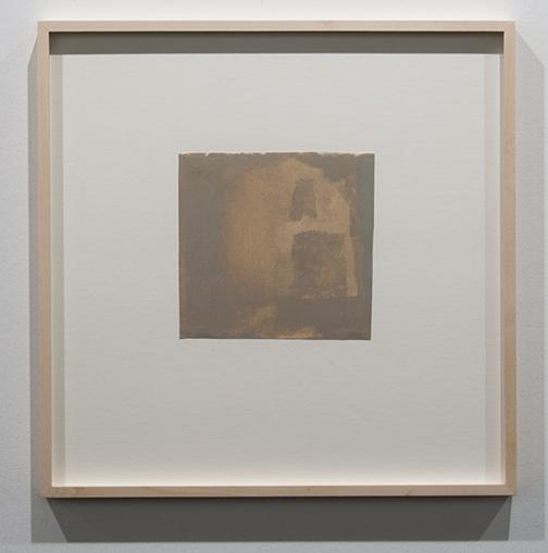 James Bishop / James Bishop Untitled  16.6 x 17.3 cm oil on paper
