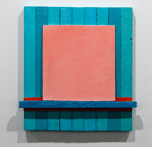 Joseph Egan / Joseph Egan local color  2017 40 x 37.5 x 4.5 cm various paints on wood