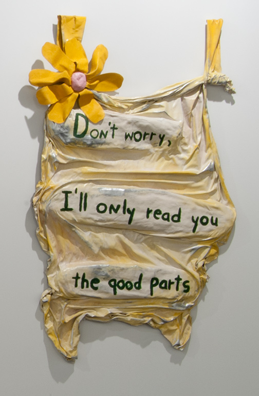 Ree Morton / Ree Morton Don't worry, I'll only read you the good parts  1975 137 x 66 cm  /  54 x 26 in oil on celastic