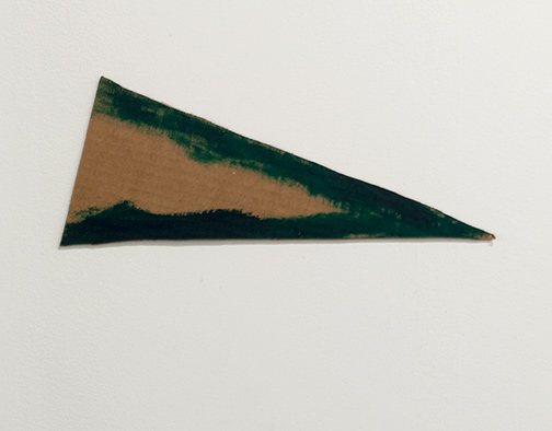Richard Tuttle / Richard Tuttle Formal Alphabet A  2015 13.7 x 36.2 cm acrylic on corrugated cardboard, steel nails
