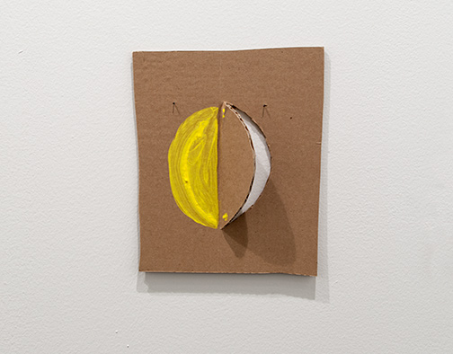 Richard Tuttle / Richard Tuttle Formal Alphabet H  2015 24.3 x 20.8 cm acrylic on corrugated cardboard, steel nails
