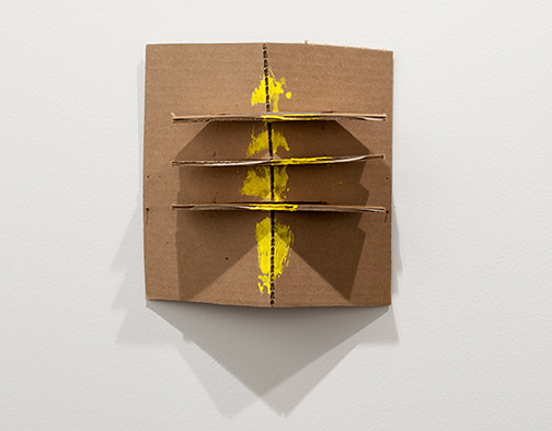 Richard Tuttle / Richard Tuttle Formal Alphabet K  2015 25.4 x 23.1 cm acrylic on corrugated cardboard, steel nails