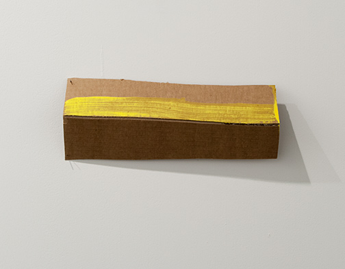 Richard Tuttle / Richard Tuttle Formal Alphabet M  2015 11.8 x 33.1 cm acrylic on corrugated cardboard, steel nails