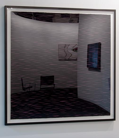 Sol LeWitt / Sol LeWitt Horizontal Lines, Black on Colors  2005 152.4 x 153.7 cm / 60 x 60.5 in gouache on paper