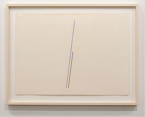 Fred Sandback / Fred Sandback Untitled  1974 ca. 48 x 66.5 cm pastel on paper
