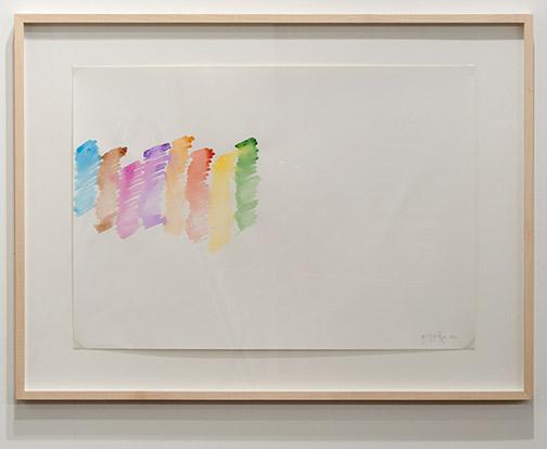 Giorgio Griffa / Giorgio Griffa Senza Titolo  1972 47.7 x 57.7 cm watercolor on paper