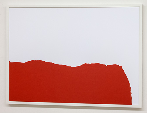 Sol LeWitt / Sol LeWitt Rip Drawing (R 122)  1973  22.2 x 65.5 cm ripped red paper