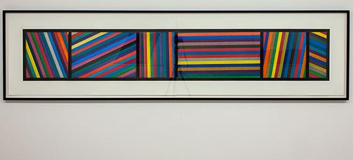 Sol LeWitt / Sol LeWitt Bands of Lines in Different Directions  1996  50.8 x 210.8 cm two part color aquatint Ed. 24/36