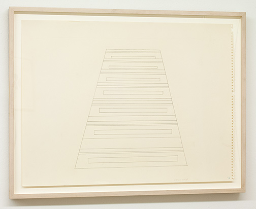 Sylvia Plimack-Mangold / Sylvia Plimack Mangold Untitled (Staircase)  1968  45.7 x 61 cm pencil on paper