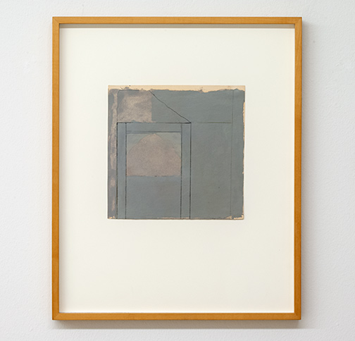 James Bishop / James Bishop Untitled  n.d. 20.5 x 20.5 cm oil and crayon on paper