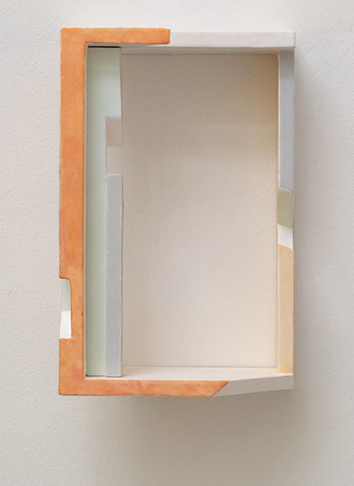 Richard Francisco / Richard Francisco Capitol  1982  30 x 19.5 x 10 cm painted gesso on wood