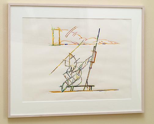 Richard Francisco / Richard Francsico Artist in studio  1986 56.5 x 76.5 cm watercolor and gouache on paper