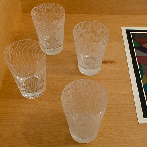 Sol LeWitt / Sol LeWitt Set of 4 crystal goblets  2003  mouth blown, hand engraved crystal glass Ed. 229/250