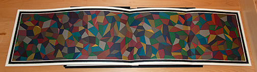 Sol LeWitt / Sol LeWitt Complex Forms  1990  each: 35.6 x 142.6 cm Artist Book with five folded silkscreens Ed. AP 2/2